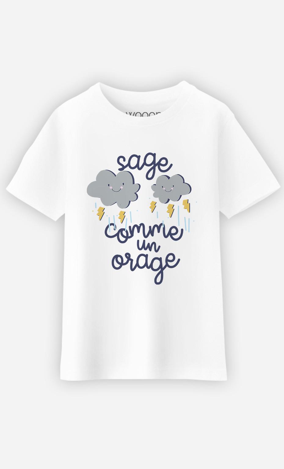T-Shirt Enfant Sage Comme Un Orage