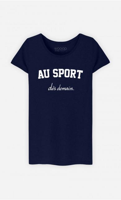 T-Shirt Femme Au Sport Dès Demain
