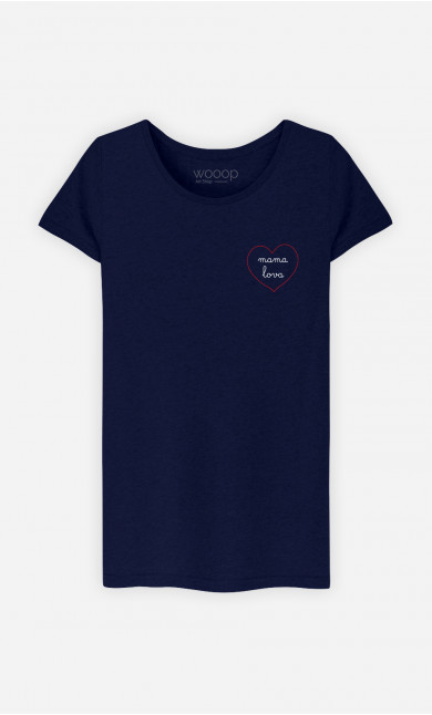 T-Shirt Femme Mama Lova Cœur