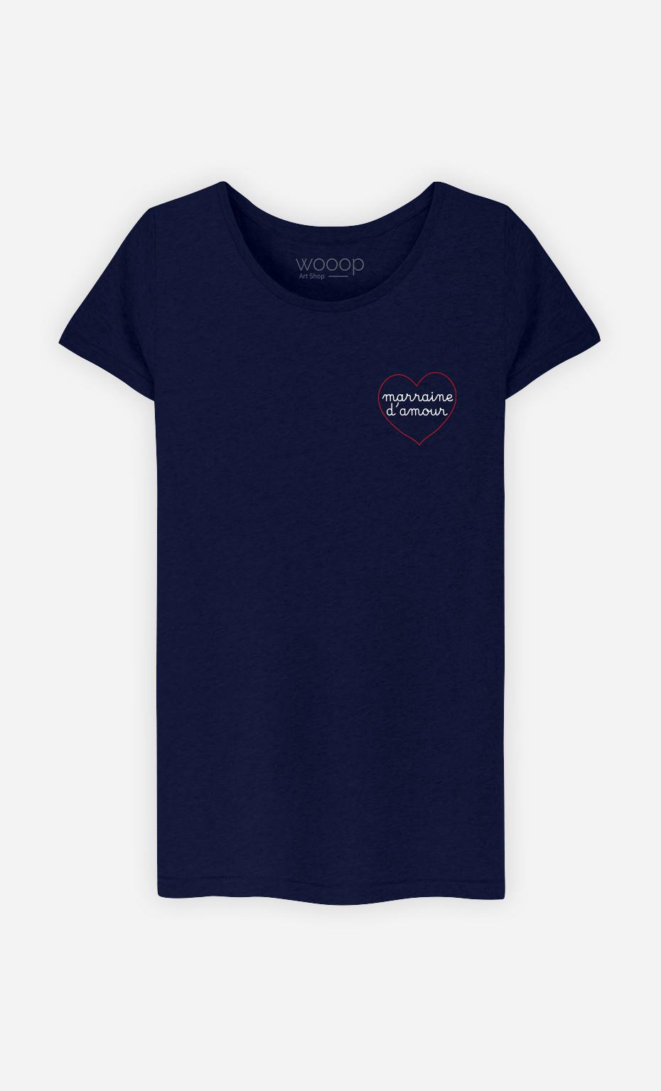 T-Shirt Femme Marraine D'amour Cœur