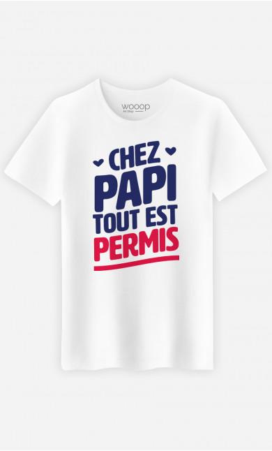 T-Shirt Homme Chez Papi Tout Est Permis