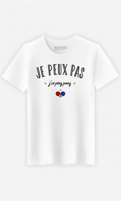 T-Shirt Homme Je Peux Pas J'ai Ping Pong