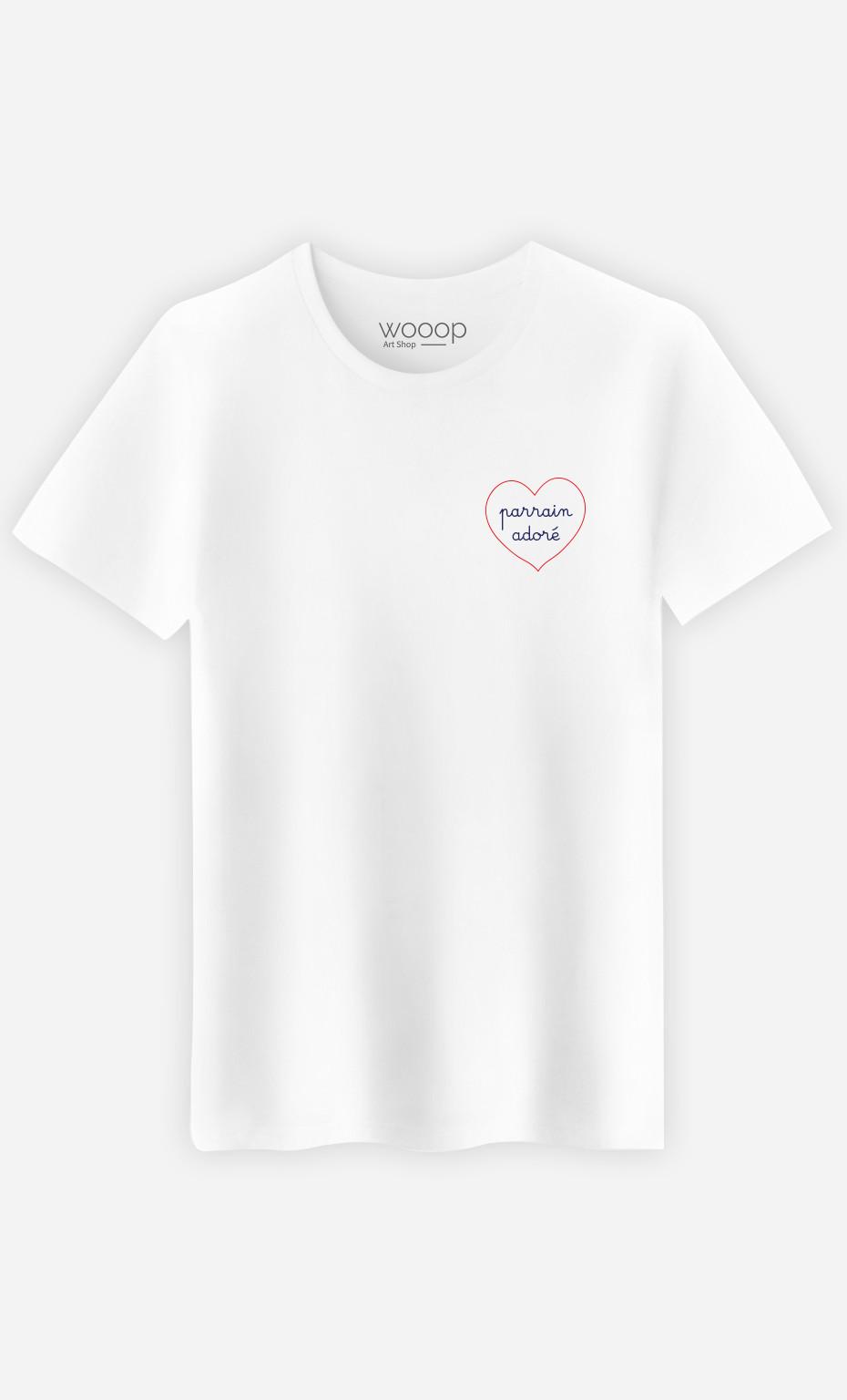 T-Shirt Homme Parrain Adore Cœur