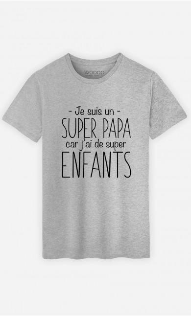 T-Shirt Homme Je Suis Un Super Papa Car J'ai De Super Enfants