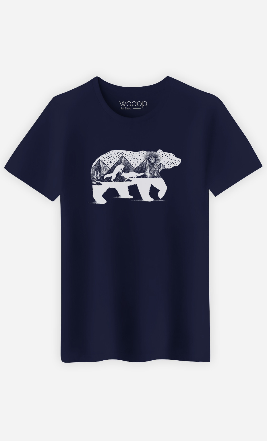 T-Shirt Homme  Bear And Foxes