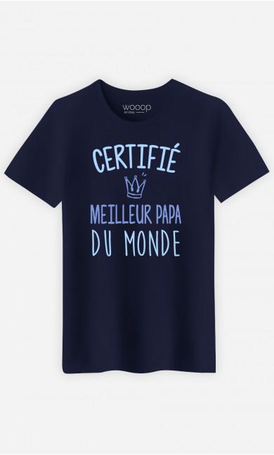 T-Shirt Homme  Certifie Meilleur Papa