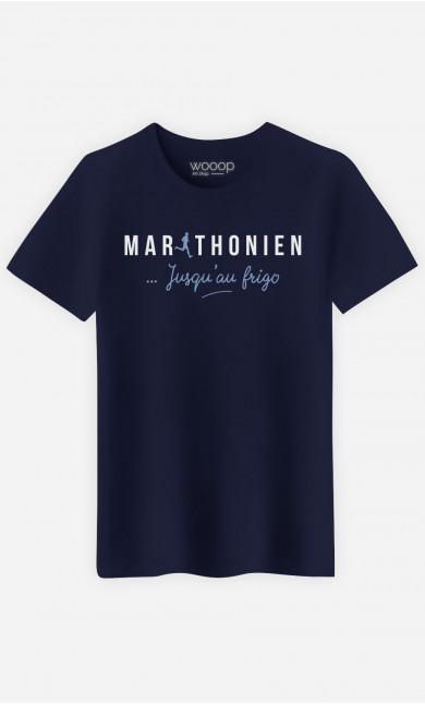 T-Shirt Homme  Marathonien Jusqu'au Frigo