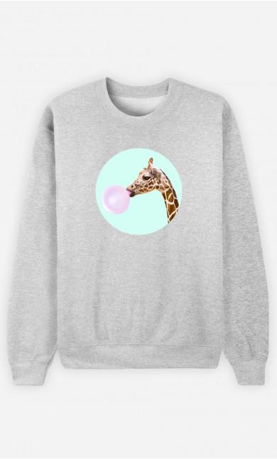 Sweat Femme Giraffe Bubble Gum