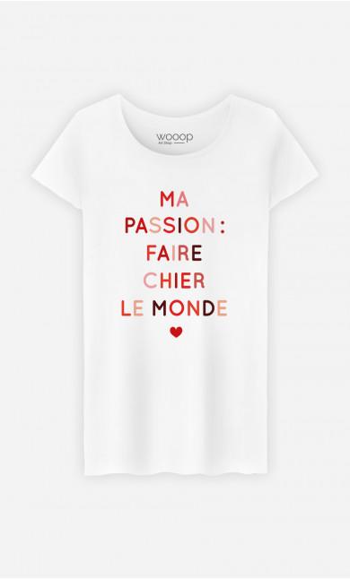 T-Shirt Femme Faire Chier Le Monde
