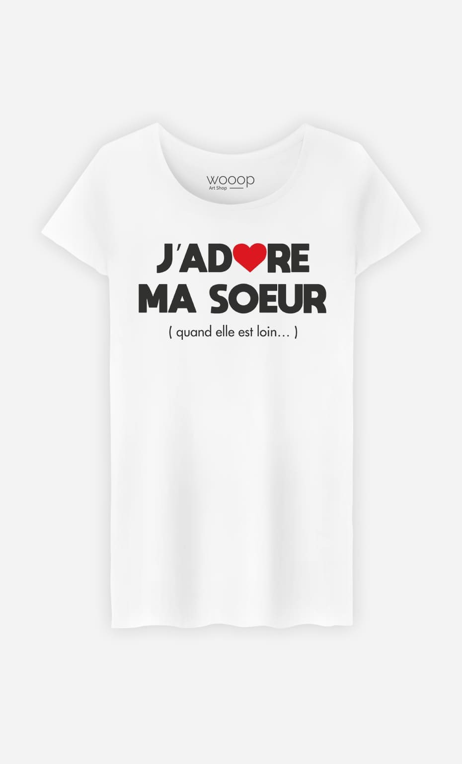 T-Shirt Femme J'adore Ma Sœur