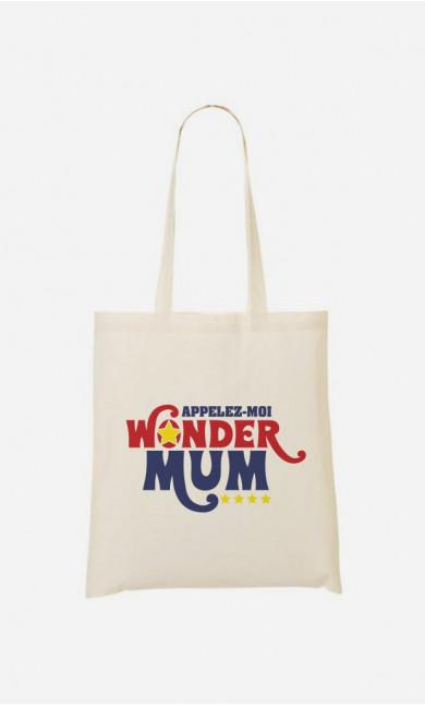 Tote bag Appelez-Moi Wonder Mum