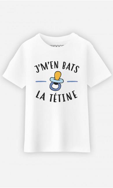 T-Shirt Enfant J'm'en Bats La Tétine