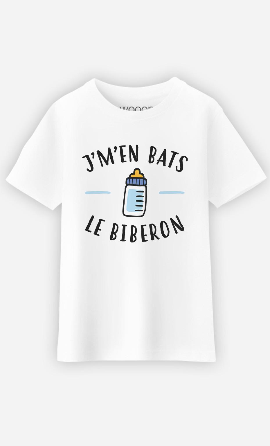 T-Shirt Enfant J'm'en Bats Le Biberon