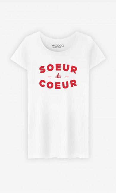 T-Shirt Femme Sœur De Cœur