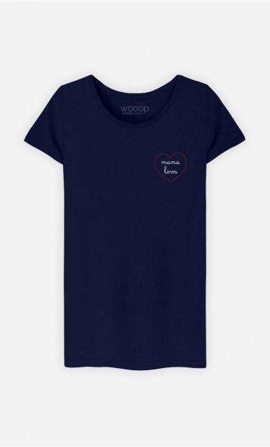 T-Shirt Femme Mama Lova - Cœur