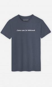 T-Shirt Homme J'peux Pas J'ai Télétravail