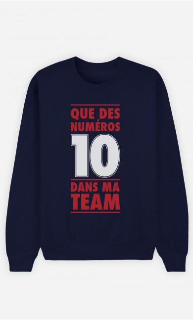 Sweat Bleu Dans Ma Team