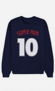 Sweat Bleu Super Papa n°10