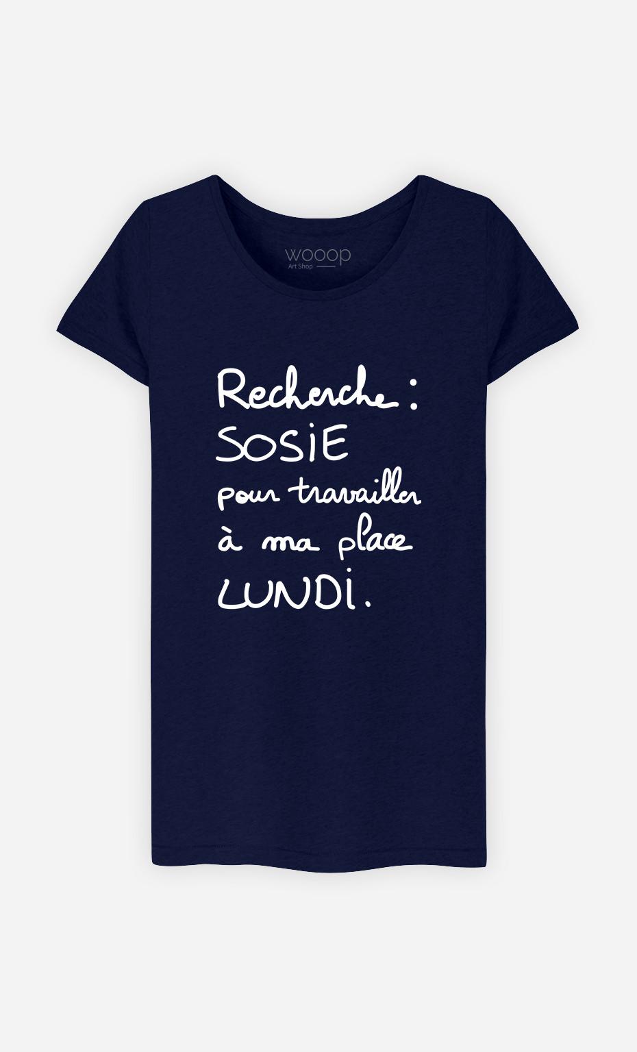 T-shirt Femme Recherche Sosie