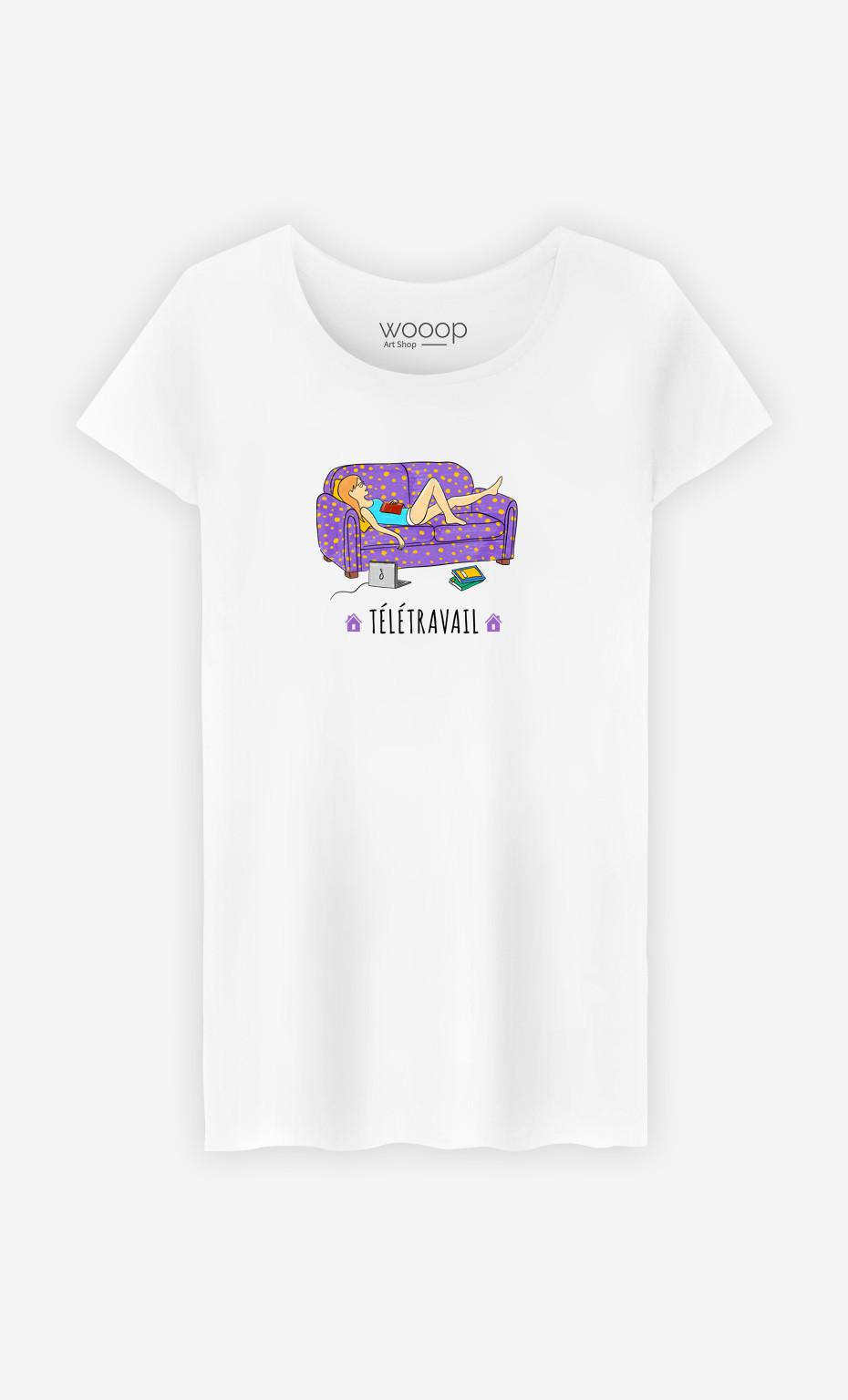 T-Shirt Femme Télétravail