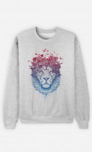 Sweat Femme Floral Lion