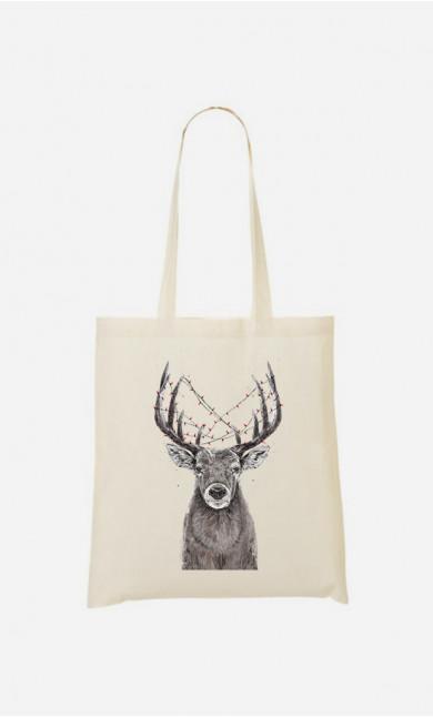 Tote Bag Christmas Deer