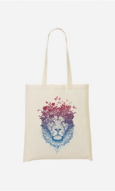 Tote Bag Floral Lion