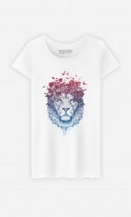 T-Shirt Femme Floral Lion