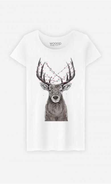 T-Shirt Femme Christmas Deer
