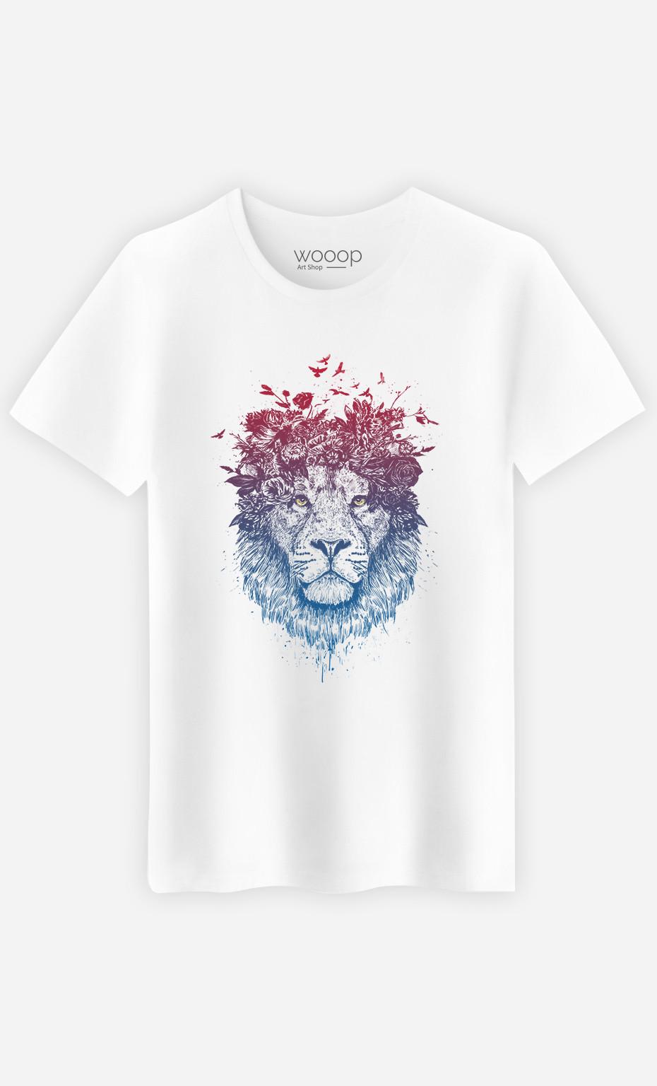 T-Shirt Homme Floral Lion