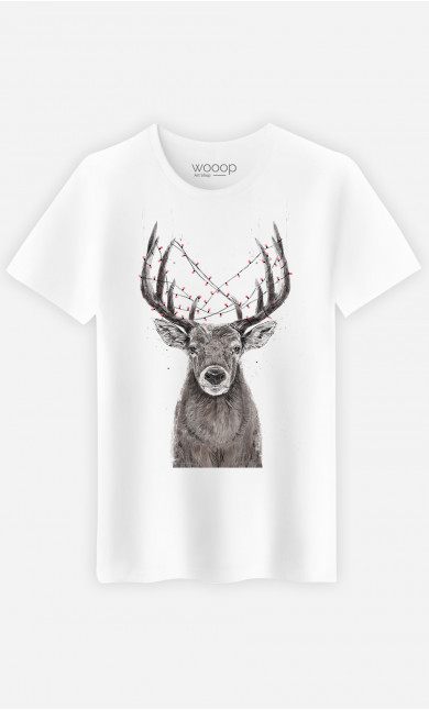 T-Shirt Homme Christmas Deer