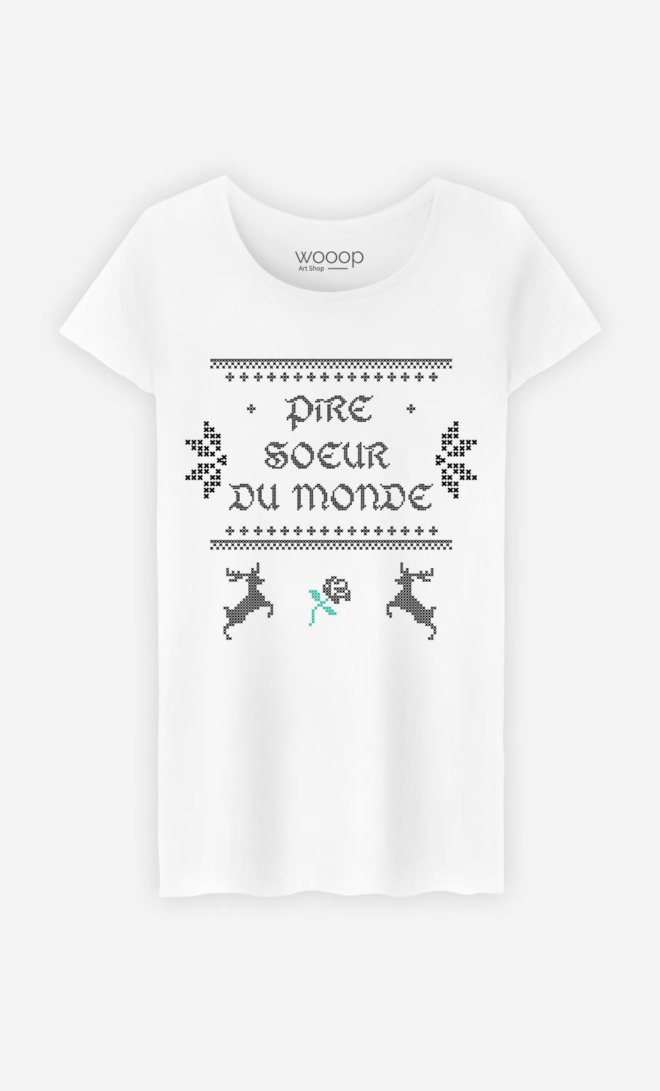 T-Shirt Femme Pire Sœur du Monde