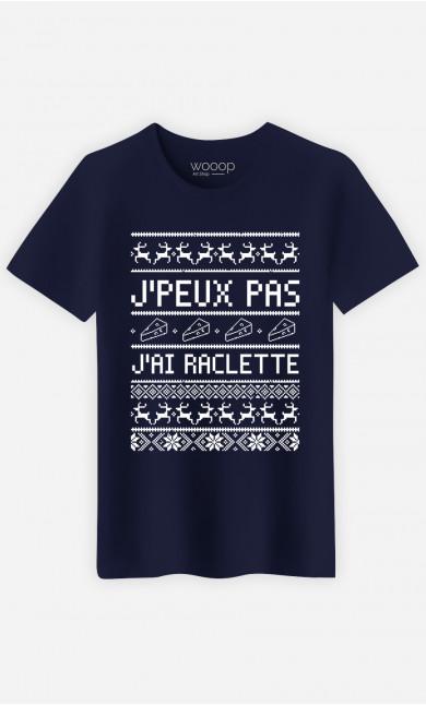 T-Shirt Homme J'peux Pas J'ai Raclette