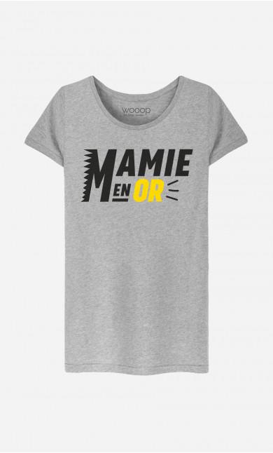 T-Shirt Femme Mamie En Or