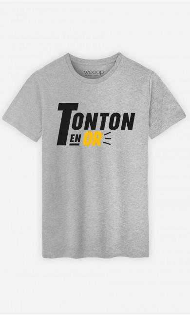 T-Shirt Homme Tonton En Or
