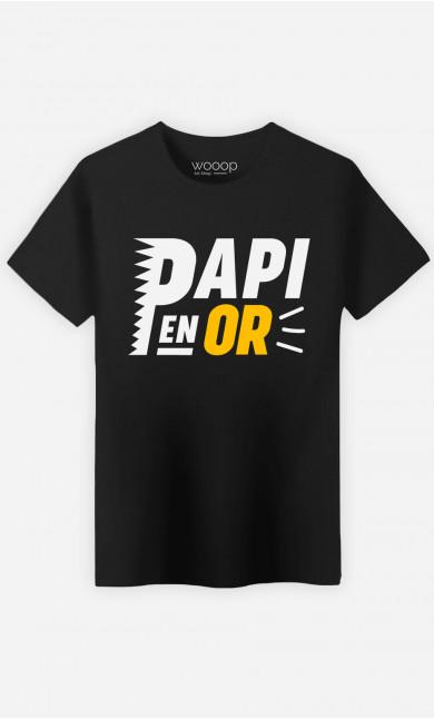 T-Shirt Homme Papi En Or