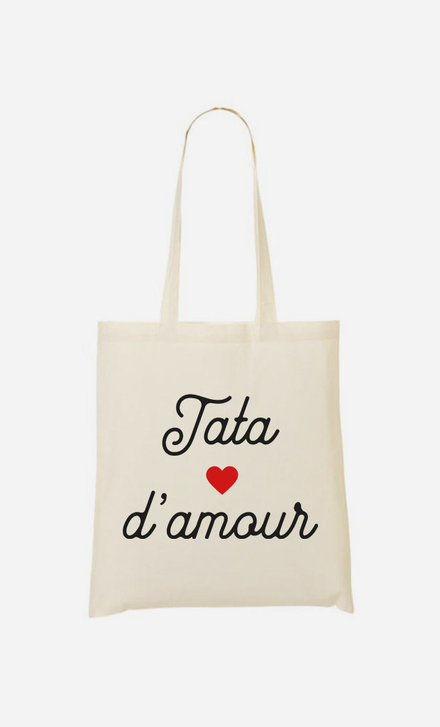 Tote Bag Tata D'amour Petit Cœur