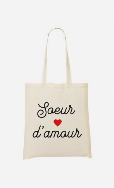 Tote Bag Sœur D'amour Petit Cœur