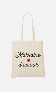 Tote Bag Marraine D'amour Petit Cœur