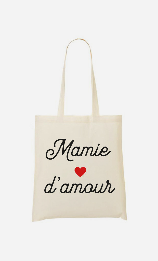 Tote Bag Mamie D'amour Petit Cœur