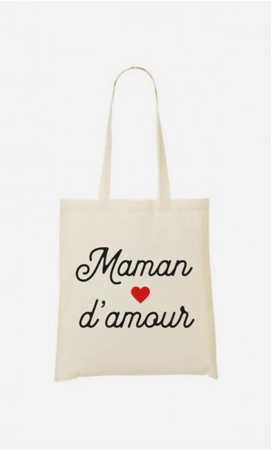 Tote Bag Maman D'amour Petit Cœur
