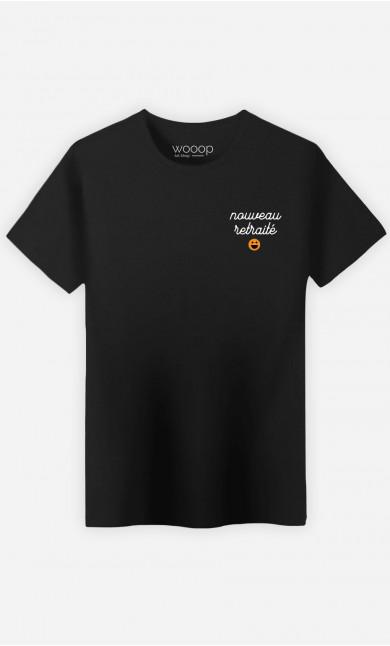 T-Shirt Homme Nouveau Retraité - Brodé