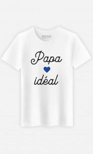 T-Shirt Homme Papa Idéal Petit Cœur