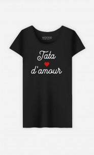 T-Shirt Femme Tata D'amour Petit Cœur
