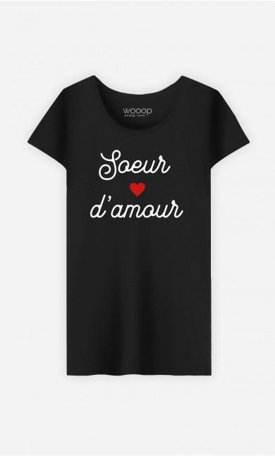T-Shirt Femme Sœur D'amour Petit Cœur