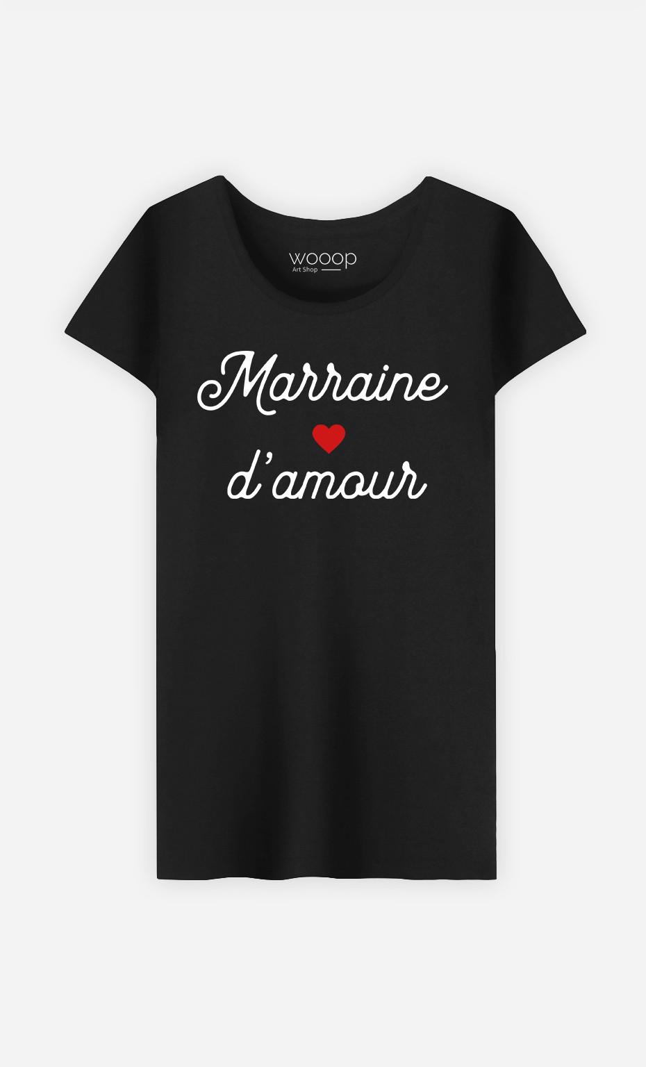 T-Shirt Femme Marraine D'amour Petit Cœur