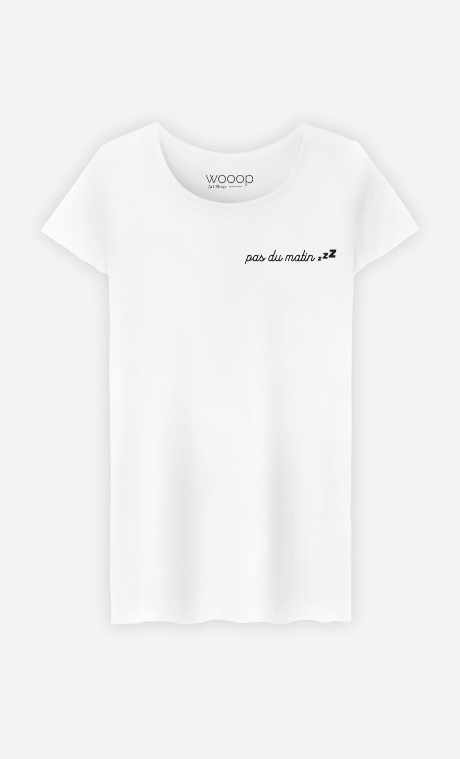 T-Shirt Femme Pas Du Matin - Brodé