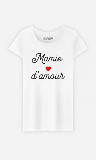 T-Shirt Femme Mamie D'amour Petit Cœur
