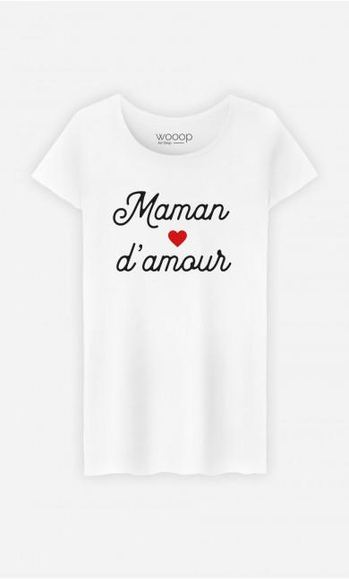 T-Shirt Femme Maman D'amour Petit Cœur