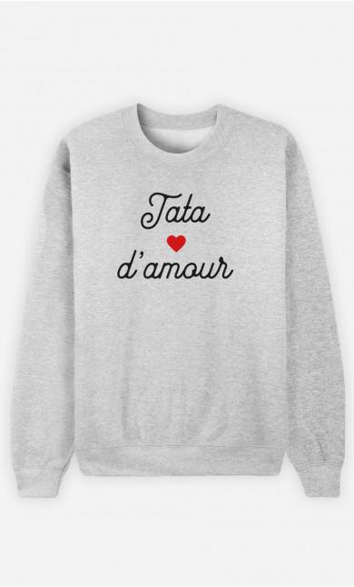 Sweat Femme Tata D'amour Petit Cœur